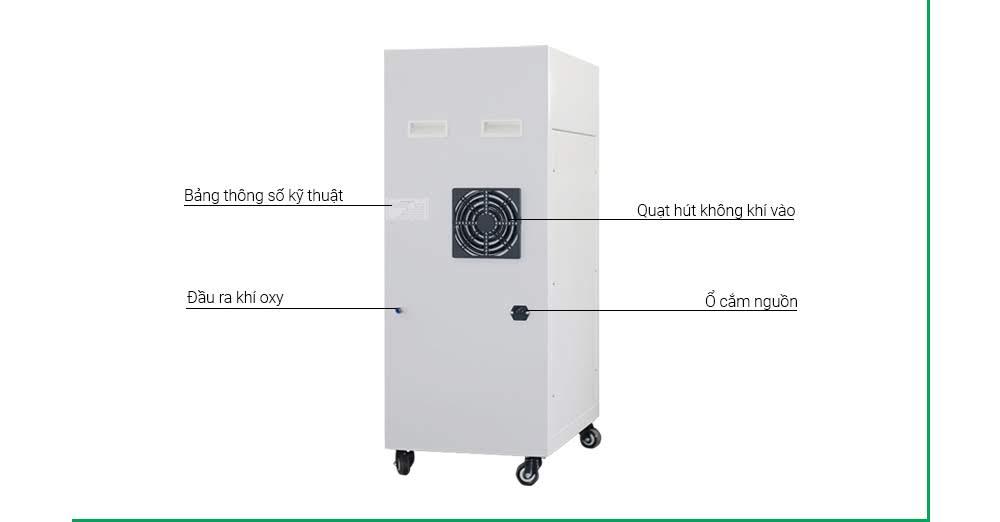 Cấu tạo của máy tjao oxy công nghiệp dROXY 10 LB