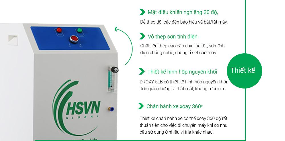 thiết kế máy tạo oxy công nghiệp 5LB