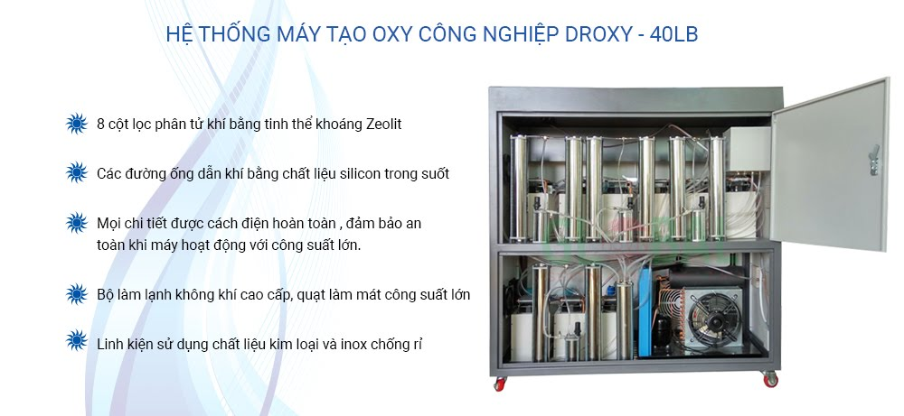 Bên trong máy tạo oxy công nghiệp ngh