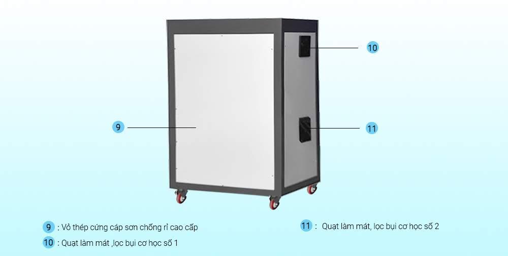 chi tiết máy oxy công nghiệp 40LB