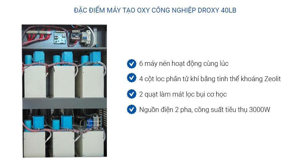 đặc điểm máy oxy công nghiệp 40LB